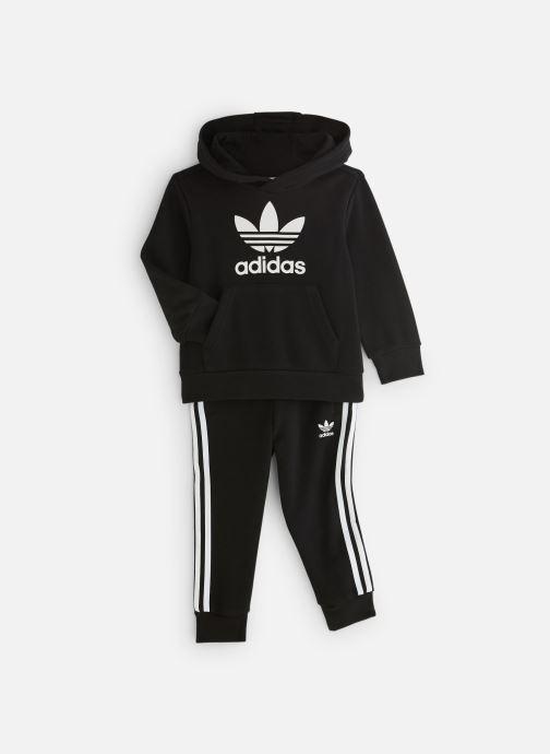 Vêtements adidas originals Trefoil Hoodie K Noir vue détail/paire