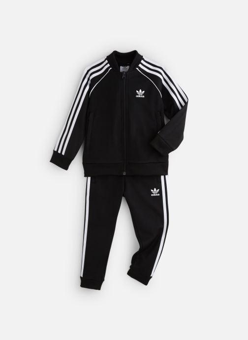 Vêtements adidas originals Superstar Suit K Noir vue détail/paire