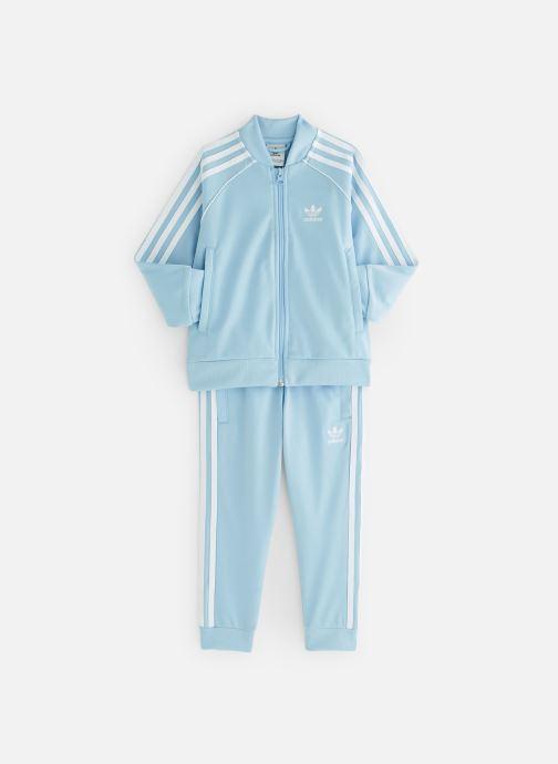 Kleding adidas originals Superstar Suit K Blauw detail