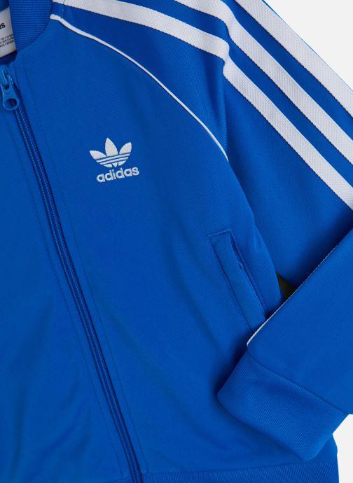 Vêtements adidas originals Superstar Suit K Bleu vue portées chaussures