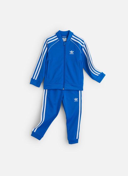 Vêtements adidas originals Superstar Suit K Bleu vue détail/paire
