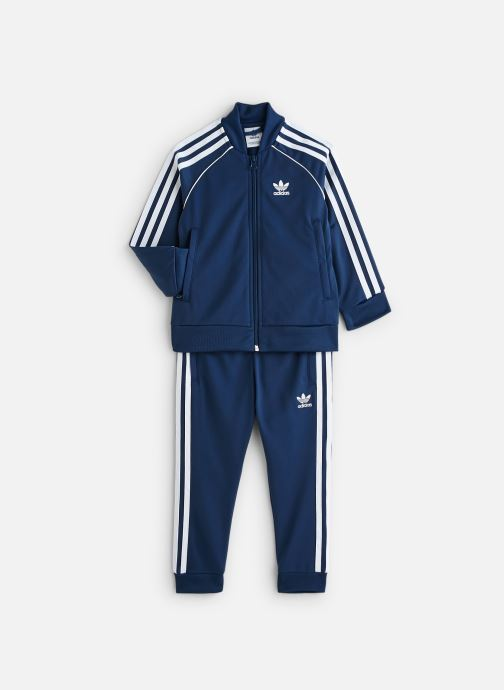 Vêtements adidas originals Superstar Suit K Bleu vue détail/paire
