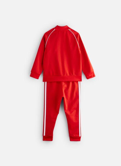Vêtements adidas originals Superstar Suit K Rouge vue bas / vue portée sac