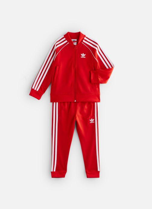 Vêtements adidas originals Superstar Suit K Rouge vue détail/paire