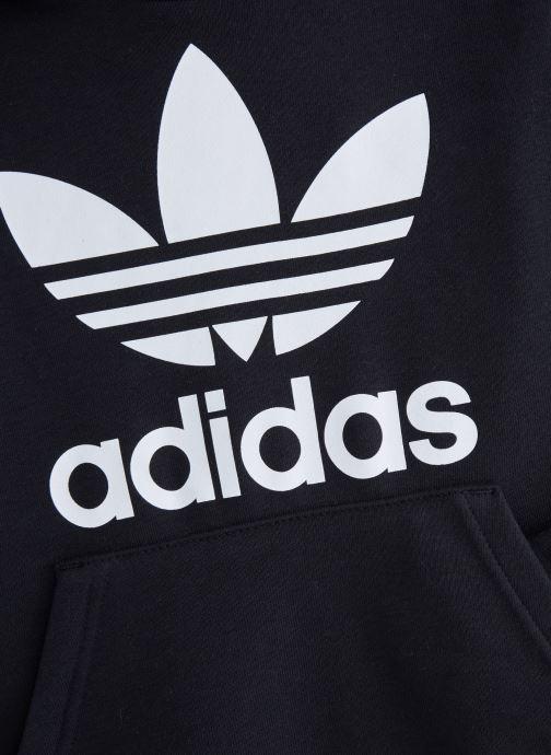 Vêtements adidas originals Trefoil Hoodie J Noir vue portées chaussures
