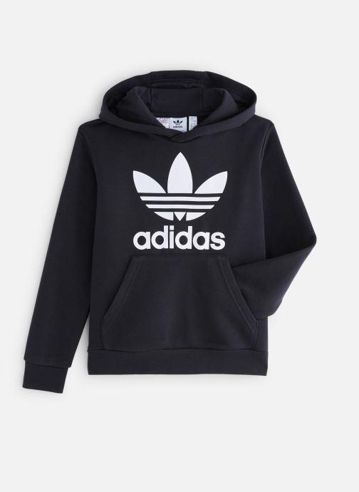 Vêtements adidas originals Trefoil Hoodie J Noir vue détail/paire