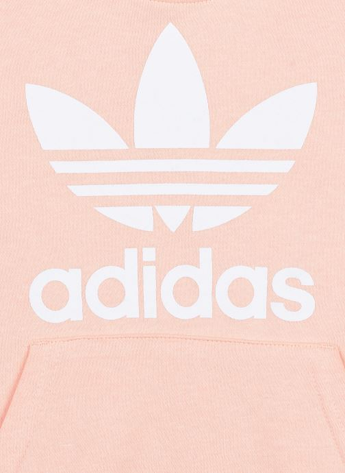 Vêtements adidas originals Trefoil Hoodie J Rose vue face