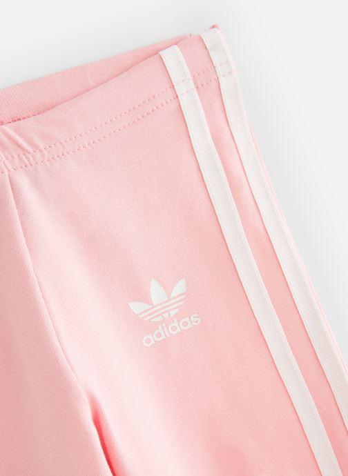 Ropa Adidas Originals 3Stripes Leggin K Rosa vista del modelo