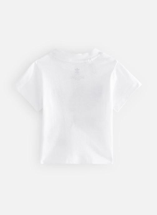 Vêtements adidas originals Trefoil Tee I Blanc vue bas / vue portée sac