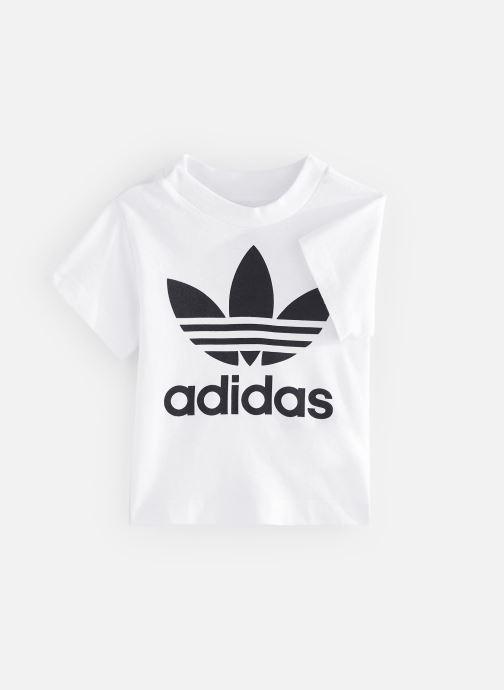 Vêtements adidas originals Trefoil Tee I Blanc vue détail/paire