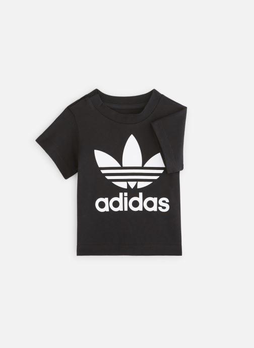Vêtements adidas originals Trefoil Tee I Noir vue détail/paire