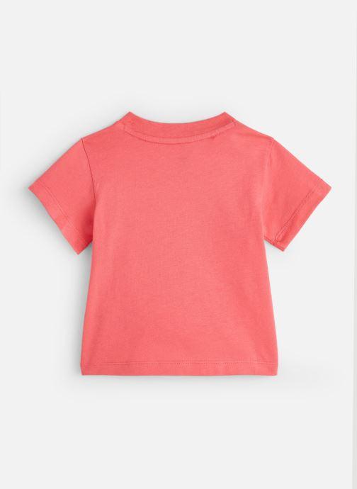Vêtements adidas originals Trefoil Tee I Rose vue bas / vue portée sac