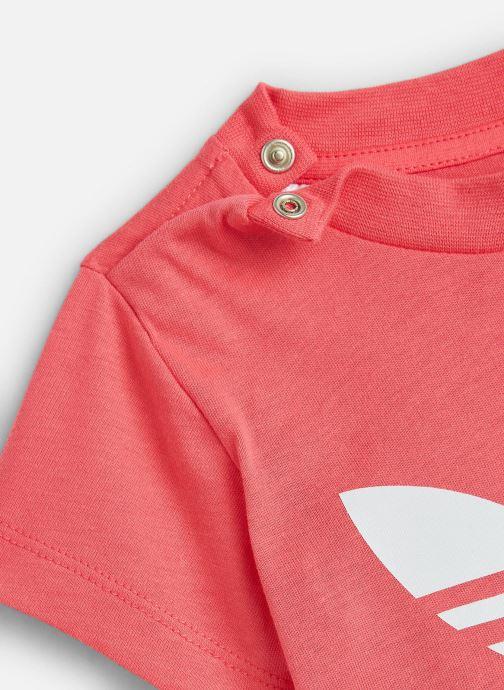 Kleding adidas originals Trefoil Tee I Roze model