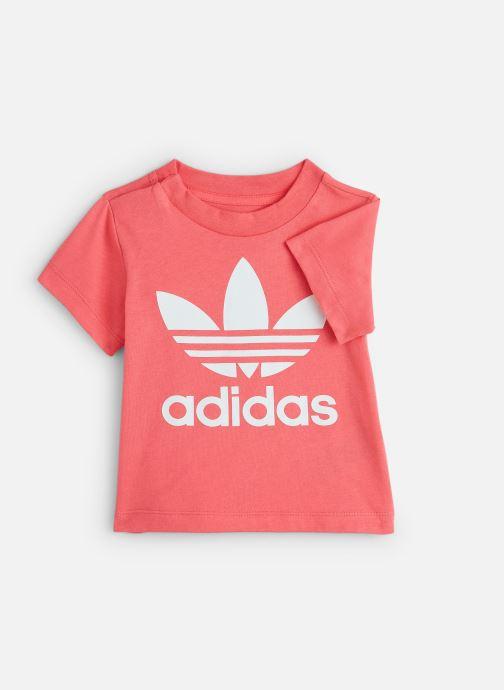 Vêtements adidas originals Trefoil Tee I Rose vue détail/paire