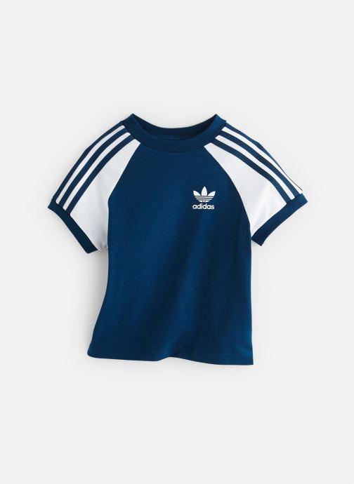 Ropa Adidas Originals 3Stripes Tee K Azul vista de detalle / par