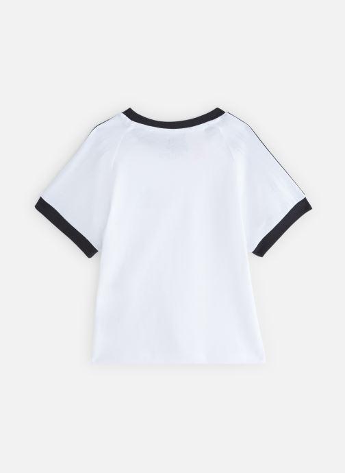 Vêtements adidas originals 3Stripes Tee K Blanc vue bas / vue portée sac