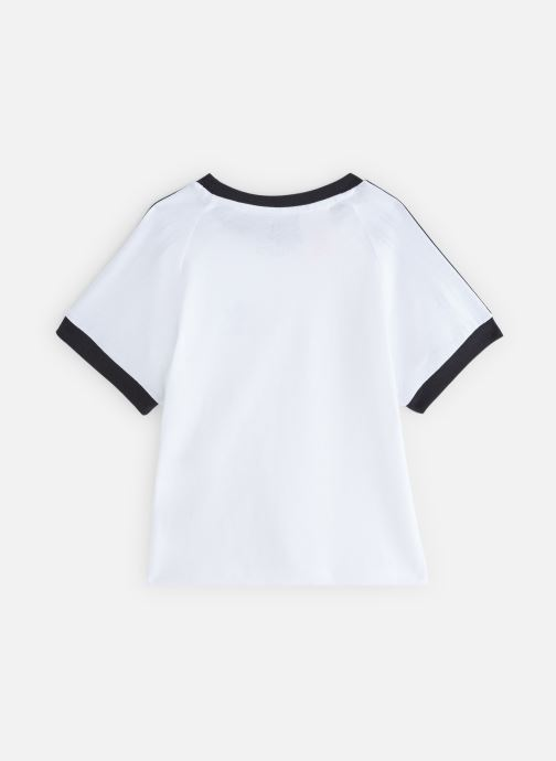 Vêtements adidas originals 3Stripes Tee K Blanc vue bas / vue portée sac