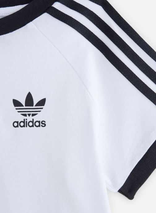 Ropa Adidas Originals 3Stripes Tee K Blanco vista del modelo