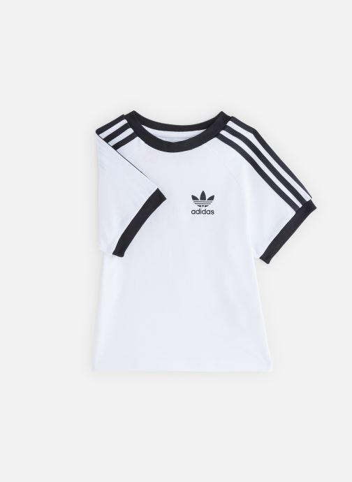 Vêtements adidas originals 3Stripes Tee K Blanc vue détail/paire