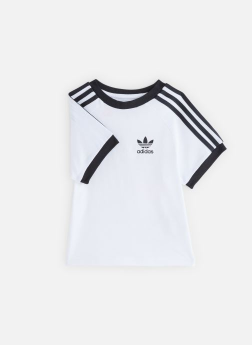 Vêtements adidas originals 3Stripes Tee K Blanc vue détail/paire