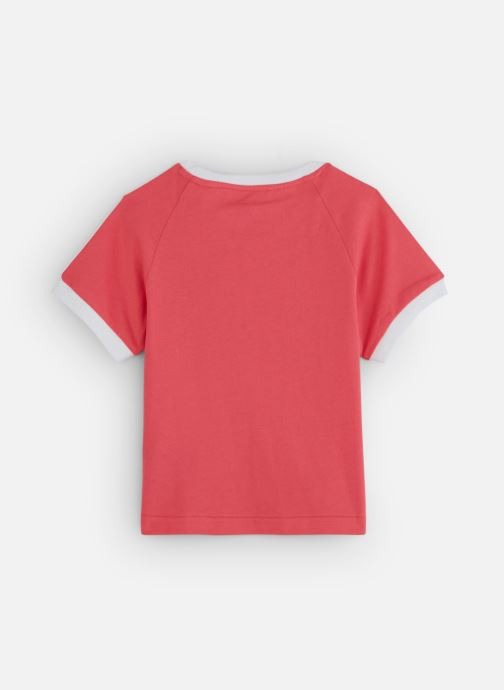 Vêtements adidas originals 3Stripes Tee K Rose vue bas / vue portée sac