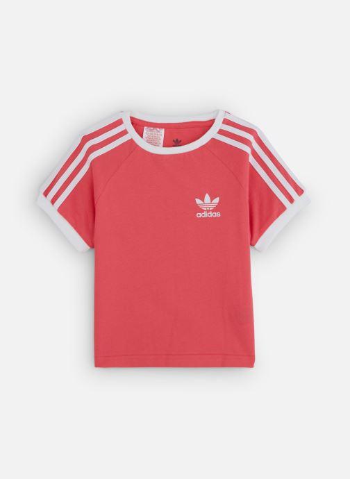 Vêtements adidas originals 3Stripes Tee K Rose vue détail/paire