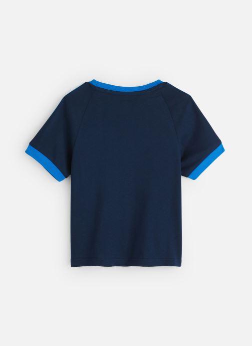 Vêtements adidas originals 3Stripes Tee K Bleu vue bas / vue portée sac