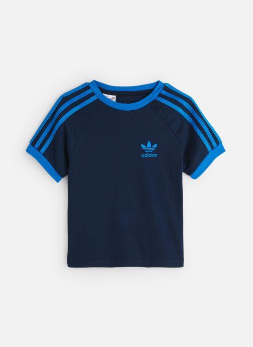 Vêtements adidas originals 3Stripes Tee K Bleu vue détail/paire