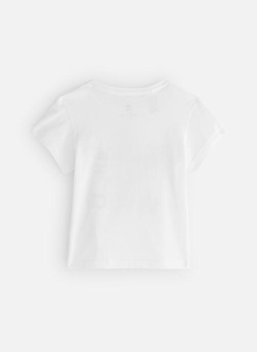 Vêtements adidas originals Trefoil Tee K Blanc vue bas / vue portée sac