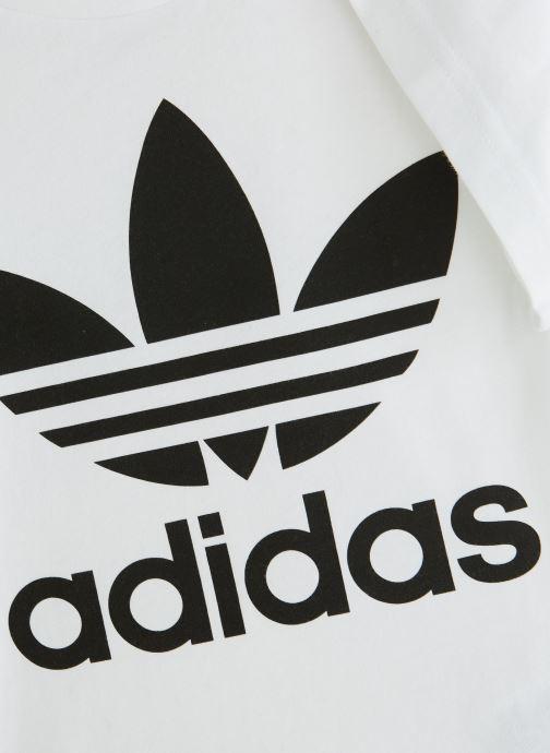 Vêtements adidas originals Trefoil Tee K Blanc vue portées chaussures