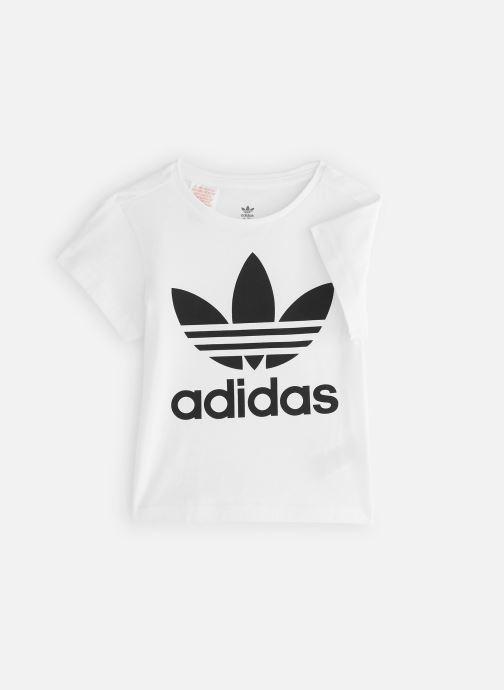 Vêtements adidas originals Trefoil Tee K Blanc vue détail/paire