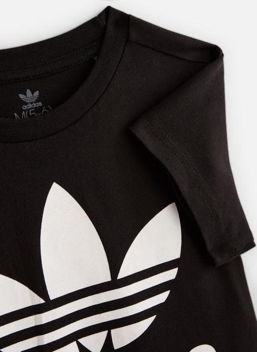 Kleding adidas originals Trefoil Tee K Zwart model
