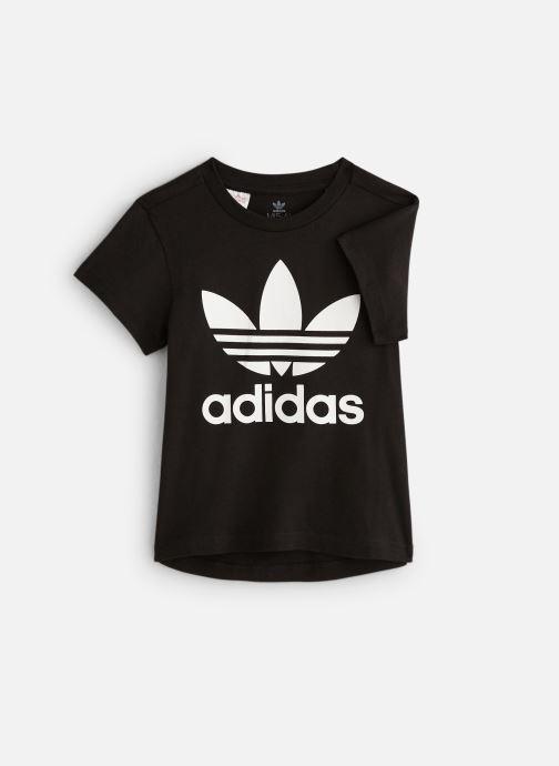Kleding adidas originals Trefoil Tee K Zwart detail
