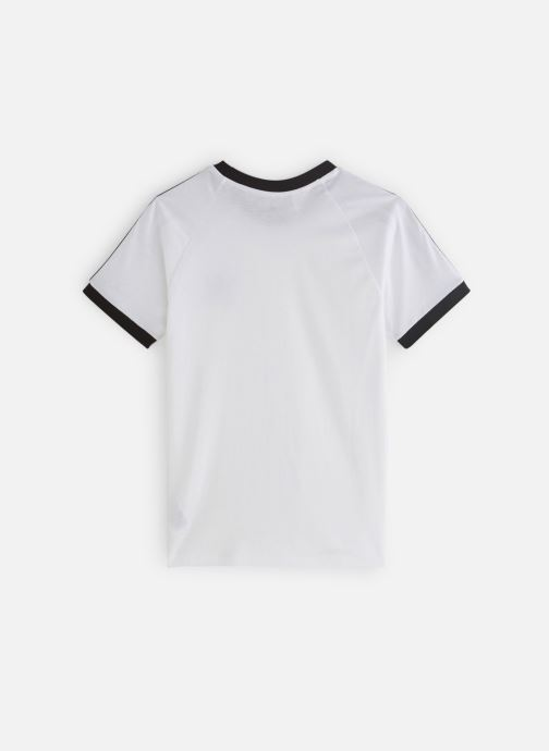 Vêtements adidas originals 3Stripes Tee J Blanc vue bas / vue portée sac