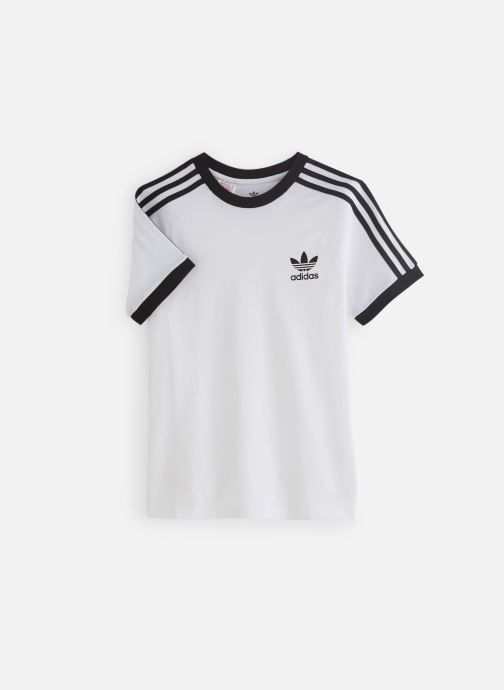 Vêtements adidas originals 3Stripes Tee J Blanc vue détail/paire