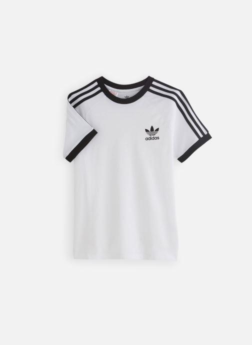 Vêtements adidas originals 3Stripes Tee J Blanc vue détail/paire
