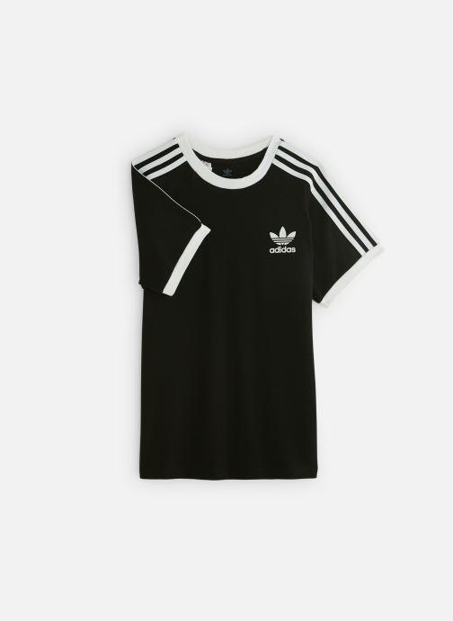 Vêtements adidas originals 3Stripes Tee J Noir vue détail/paire