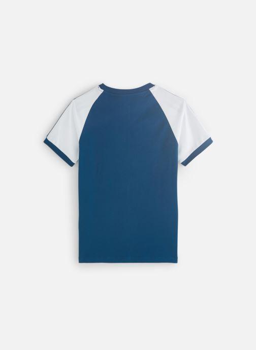 Vêtements adidas originals 3Stripes Tee J Bleu vue bas / vue portée sac