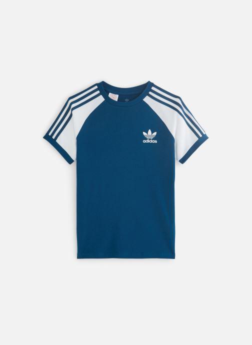 Vêtements adidas originals 3Stripes Tee J Bleu vue détail/paire