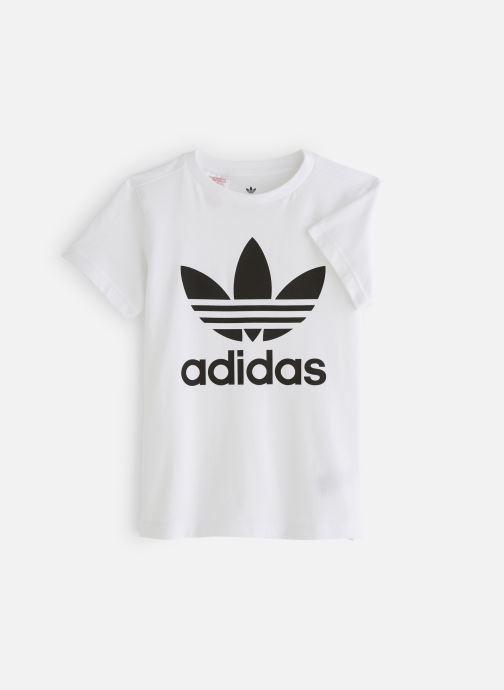 Vêtements adidas originals Trefoil Tee J Blanc vue détail/paire
