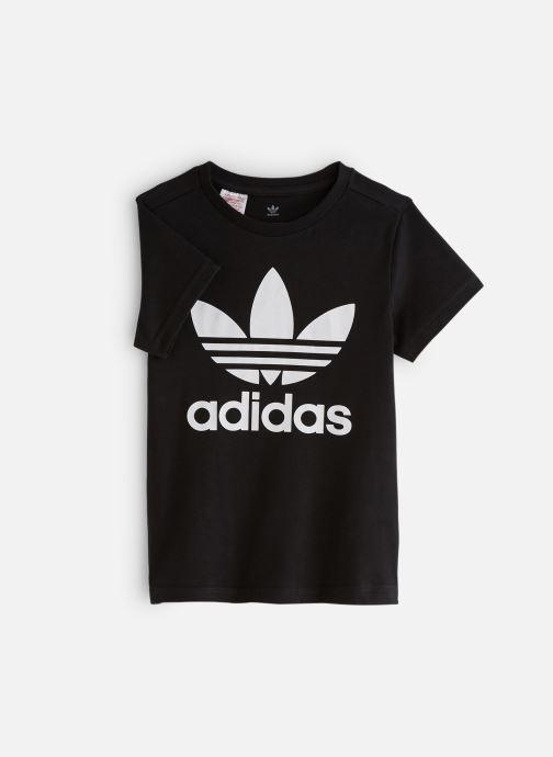 Vêtements adidas originals Trefoil Tee J Noir vue détail/paire