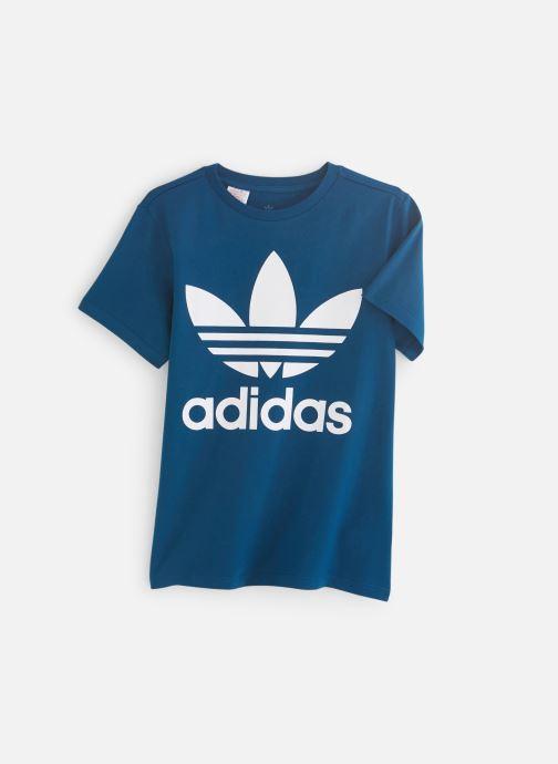 Vêtements adidas originals Trefoil Tee J Bleu vue détail/paire