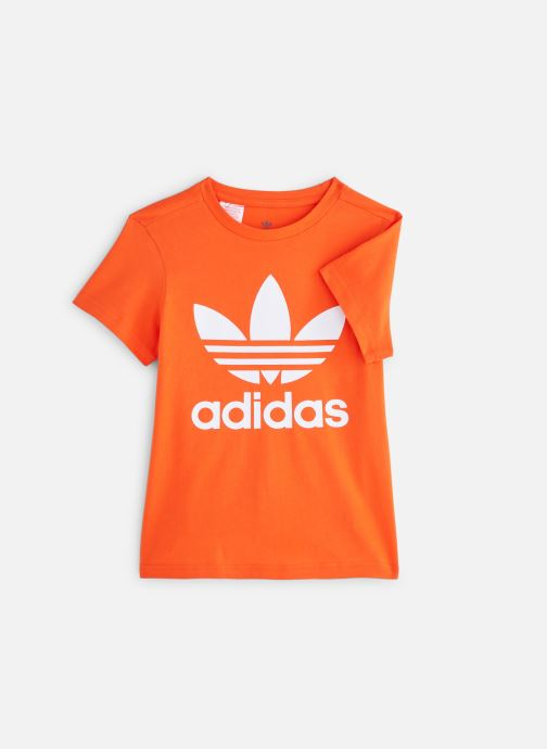 Kleding adidas originals Trefoil Tee J Oranje detail
