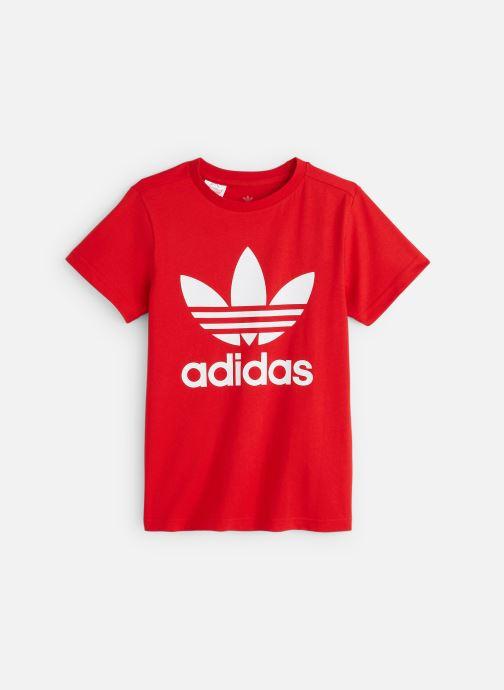 Vêtements adidas originals Trefoil Tee J Rouge vue détail/paire