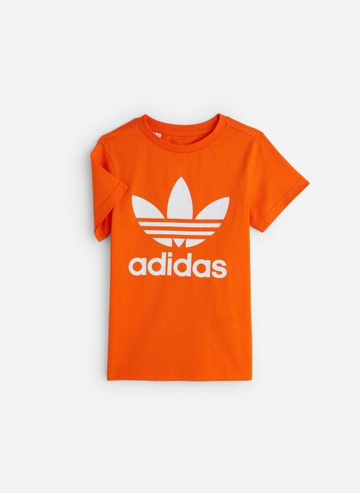 Vêtements adidas originals Trefoil Tee J Orange vue détail/paire