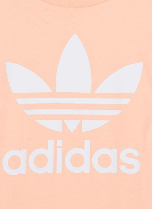 Vêtements adidas originals Trefoil Tee J Rose vue face