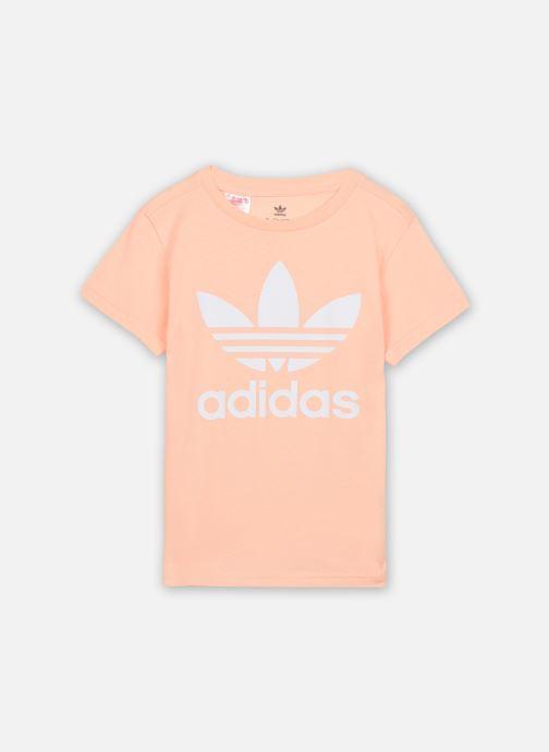 Vêtements adidas originals Trefoil Tee J Rose vue détail/paire