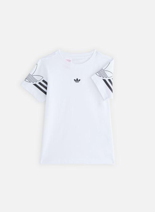Vêtements adidas originals Outline Tee J Blanc vue détail/paire