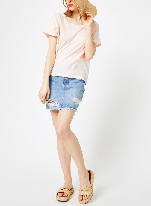 Vêtements Leï 1984 T-shirt Gabrielle Rose vue bas / vue portée sac