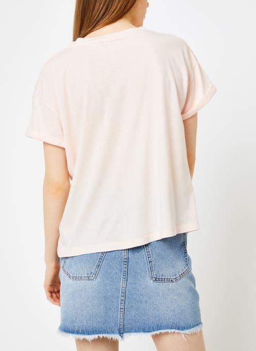 Vêtements Leï 1984 T-shirt Gabrielle Rose vue portées chaussures